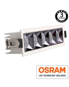 Inbouw LED Downlighter 25W OSRAM chip 24º UGR17 140lm/W