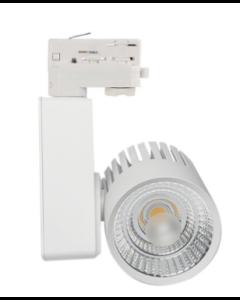 LED Railverlichting /Spot 40W GRAZ WIT Bridgelux Chip 3faseCRI +90