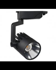 LED Tracklight /Spot 30W ROMA Zwart 1-fase